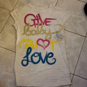 Baby phat Tee Shirt, Long Length, White, Size XL